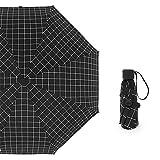 LYJZH Regenschirm Taschenschirm, kompakter tragbarer,geeignet für Männer und Frauen Fünffachschirm schwarz Kunststoff-Taschenschirm Sonnenschirm Farbe28 94cm