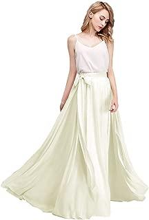 karever Chiffon Bridesmaid Dresses Long Woman Maxi Skirt Beach