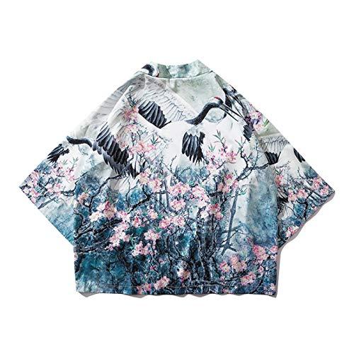 RHH Shop Estilo chino de hada grúa de siete puntos mangas Hanfu Taopao primavera y verano delgado protector solar ropa parejas (color: color, tamaño: XL)