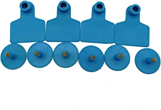 Ear Tags Blank Animal Identification Tags for Livestock Cattle Sheep Goat 100pcs (Blue)