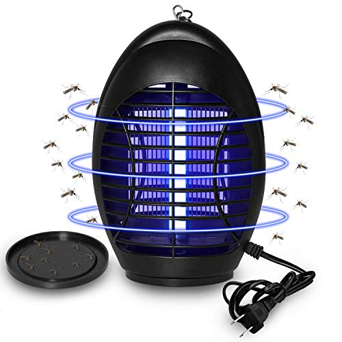 Wanqueen Electronic Bug Zapper, Indoor Hangable Mosquito Killer Fly Trap with Hook.