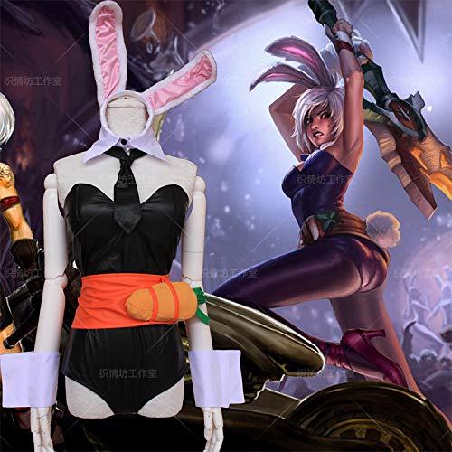WSJDE LOL League of Legends Exile Blade Ruiwen Bunny Skin Cosplay Disfraz de Anime de Halloween
