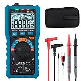 Multimètre Automatique Numérique,Tilswall Multimètre Digital TRMS 10000 compets Testeur Electrique avec NCV Tension…
