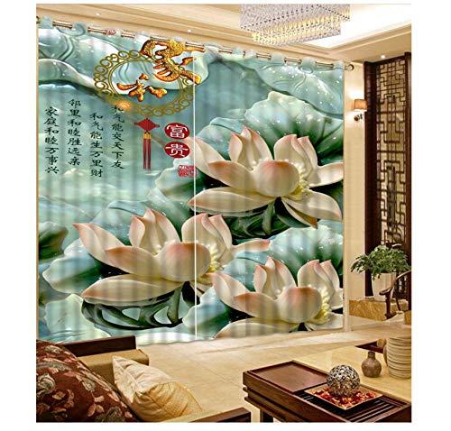 cortinas salon modernas de flores