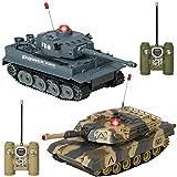 RC Battling Tanks Set of 2 Full Size Infrared Radio Remote Control Battle Tanks