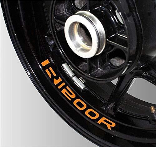 Luyangyund Etiqueta engomada de la Motocicleta Pegatina de Rueda Reflectante Piezas de automóvil Película Decorativa del neumático Adecuado para BMW R1200R (Color : K LQT R1200R 06)