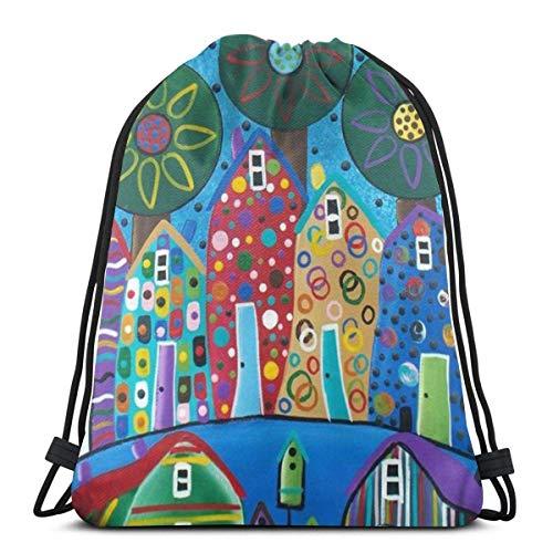 Yuanmeiju Kids Benched Bag,Men Women Bolsa de Gimnasio,School Mochila con cordón,Sport Casual Daypack,Penguin Pattern 3D Print String Bag Sackpack Cinch Tote Bags