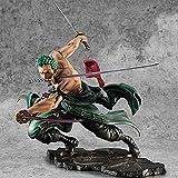 Anime One Piece Roronoa Zoro Figure Trois Couteaux Big Thousand World PVC Collection Modèle Figurine Décoration Ornements 18CM