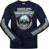 Harley-Davidson Military - Men's Navy Long-Sleeve Skull Graphic T-Shirt - Camp Leatherneck | Chrome Dome XL