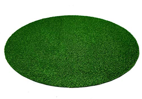Snapstyle Wembley - Alfombra césped Artificial Redonda - para Jardín, Terraza, Balcón - Verde - 3 tamaños