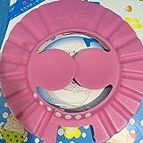 Baanuse Cappellino Morbido da Bagno per Bambini, Protezione antishampoo, Rosa