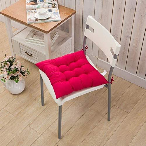 LanXin Silla de jardín cojín Espesar Lienzo cojín del Asiento con los Lazos Silla Suave de Rayas Cojines for sillas de Comedor: Brown Mat (Color : Rose Red)