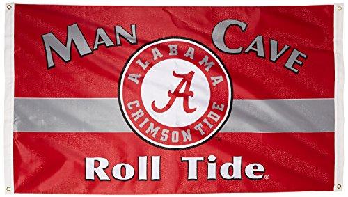 BSI NCAA Alabama Crimson Tide Man Cave Flag with 4 Grommets (3 x 5-Feet)