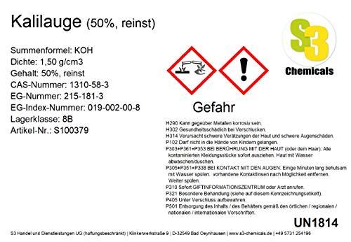 S3 Chemicals Kalilauge (50%, reinst) Größe 250ml