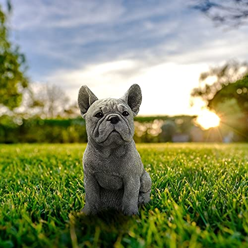 French Bulldog Statue Garden Decor - Memorial Dog Figurines, Table Centerpiece Gift for Dog Lovers, Fantasy Fans, Dog Decorations Patio Ornament for The Home, Patio, Lawn, Outdoors Artificial Pet