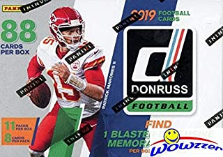 2019 Donruss NFL Football EXCLUSIVE HUGE Factory Sealed Retail Box with MEMORABILIA Card & 11 RATED ROOKIES! Look for RC & Autos of Kyler Murray, Daniel Jones, Dwayne Hoskins,Drew Lock & More! WOWZZER