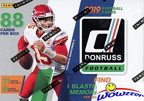 2019 Donruss NFL Football EXCLUSIVE HUGE Factory Sealed Retail Box with MEMORABILIA Card & 11 RATED ROOKIES! Look for RC & Autos of Kyler Murray, Daniel Jones, Dwayne Haskins,Drew Lock & More! WOWZZER