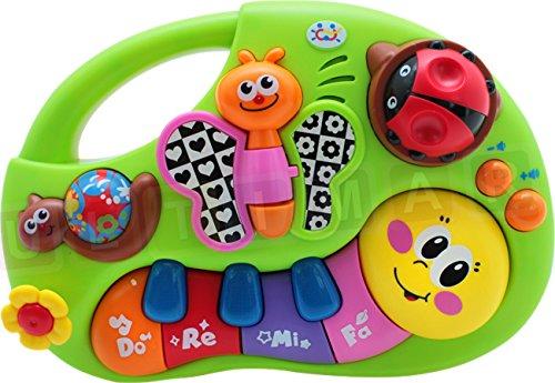 BSD Baby Keyboard - Bunte Interaktive Klavier - Piano mit Licht und Ton - Musikinstrumente - Klavier für Kleinkinder