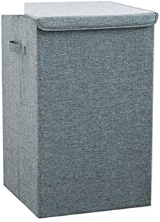Boîtier de rangement de panier de rangement lavé Boîte de vêtements de ménage Tissu de rangement pliant Basket de rangemen...
