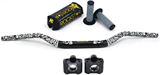 JFG RACING Universal Handlebar Set Fat Bars 28mm Dirt Bike Pad Pit Bike Handlebar Risers Motorcycle Handlebars Grips bar For For Honda Yamaha Suzuki Kawasaki Handlebars Black