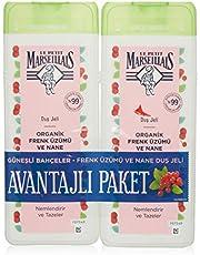 Le Petit Marseillais Organik Frenk Üzümü ve Nane 400 mlx2 Duş Jeli 1 Paket (1 x 800 ml)