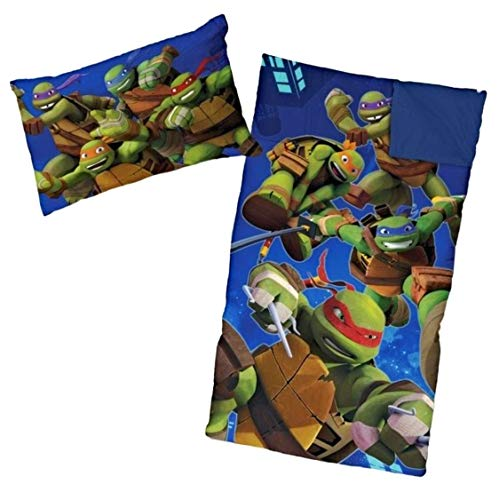 Price comparison product image Ninja Turtle Sleeping Bags for Boys Slumber Bag (45 Degrees Fahrenheit) and Pillow - 2 Piece Set