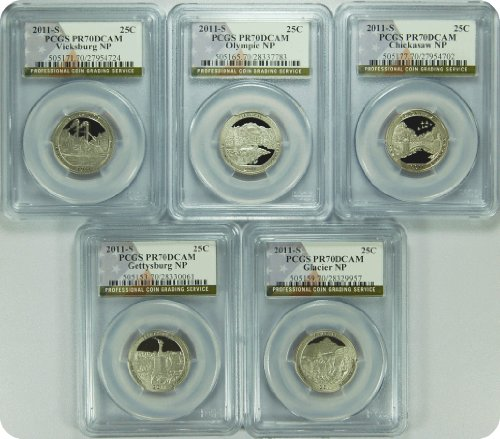 2011 Collection 2011-S PCGS PR70DCAM SET National Parks Quarters Quarter PCGS PR-70