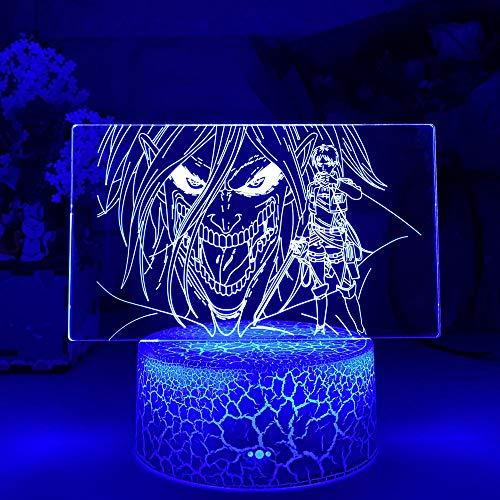 3D Nacht Lampe Illusion Lampe Acryl 3D-Lampe Angriff auf Titan Levi Ackerman für Home Room Decor Light Child Gift Angriff auf Titan LED Nachtlicht Anime ZMSY