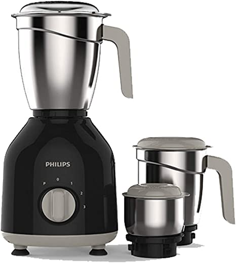 Philips HL7756/00 Mixer Grinder, 750W, 3 Jars (Black)