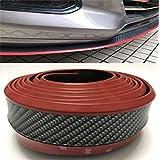 汎用モールリップスポイラー マルチスポイラー エアロガード バンパー モール 傷から守ります レッドライン 炭素繊維2.5