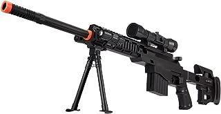 UKARMS CQB P1402 Spring Airsoft Tactical Sniper Rifle Gun : Folding Stock + Flashlight + Bipod