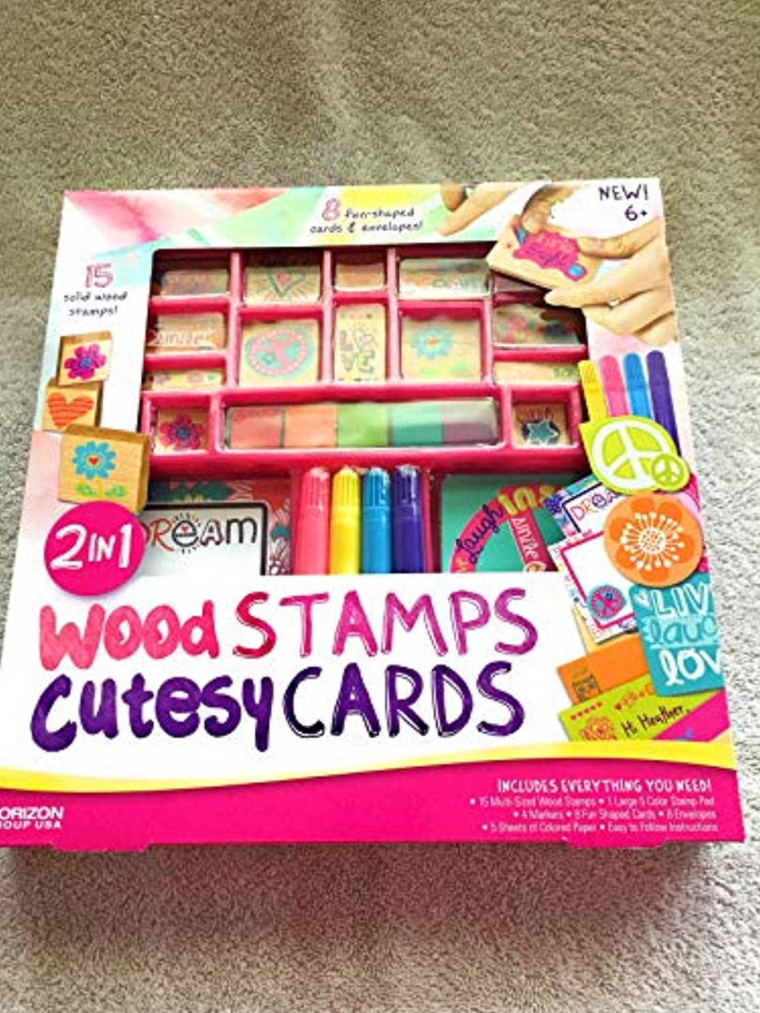 2 in 1 Wood Stamps Cutesy Cards