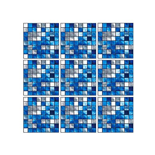 Etiqueta Engomada De La Baldosa De La Pared 3D 10 Unids Autoadhesivo Impermeable Pegatinas De Pared Paneles De Pared DIY para La Cocina Backsplash Y Cuarto De Baño 10/20 / 30cm(Size:10cm)