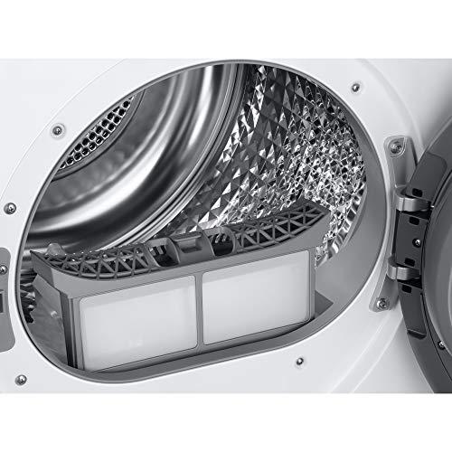 Samsung Elettrodomestici DV90T5240TW/S3 Asciugatrice Ai Control Optimal Dry, Front Load, 9 kg, Bianco, Oblò Bianco