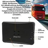 Dispositivo de navegación para camiones (camiones), coches, autobuses, autocaravanas y campistas. Alarma de radares, actualización gratuita de mapas, mapas de Europa