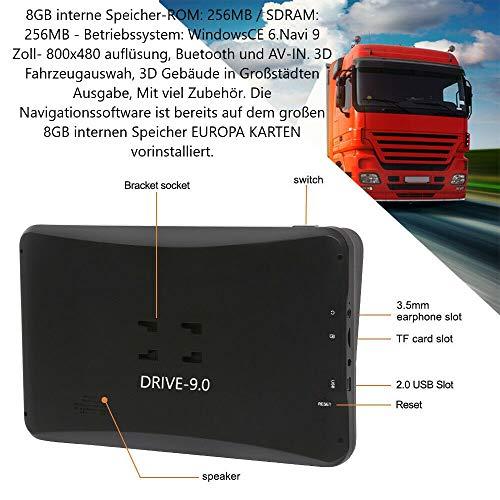 Navigatieapparaat voor vrachtwagens (truck), auto, bus, wohnmobil en camper. Radarwaarschuwers, gratis Map update, kaart van heel Europa (47 landen) gevaarlijke stoffen, gratis zonneklep.