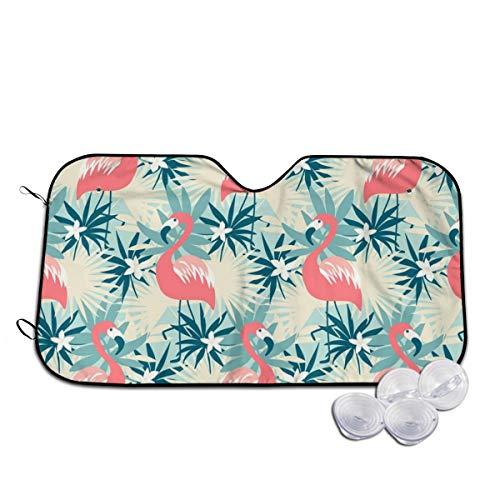 Rterss naadloos patroon met Flamingo en tropische planten aangepaste voorruit zon schaduw vizier voorruit glas voorkomen dat de auto van verwarming tot binnen