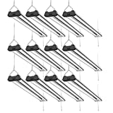 Sunco Lighting 12 Pack Industrial LED Shop Light, 4 FT, Linkable Integrated Fixture, 40W=260W, 5000K Daylight, 4000 LM, Surface + Suspension Mount, Pull Chain, Utility Light, Garage- Energy Star