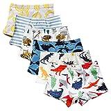 Hey~Yo Boxer Garçons Coton Designer Tronc Toddler Doux Respirant Boxer Slips sous-Vêtements pour Bébé Enfants 2-12 Ans (7-8 Ans)