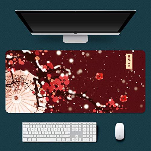 ROZEIP Tappetino Mouse XXXL Ombrello rosso prugna 900x400mm Mouse Pad Gaminggrandi dimensioni...