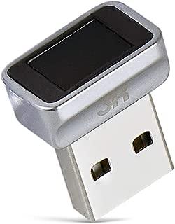3R USB指紋認証キー Windows Hello 機能対応 10件登録可 USB 指紋認証リーダー 360度 指紋認証 PC ロック Windows10 / 8 / 7 64/32 Bits 対応 - グレー