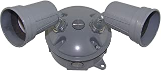 Made in USA Weatherproof Electrical Outlet Box, Lampholder & Box Cover Kit - Gray