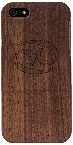 Woodero Cancer Horoscope Real Wood Case for Apple iPhone 5/5S
