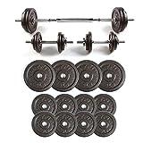 RitFit Adjustable Dumbbells Set with Baked Enamel Finish, Fitness Free Weights 40, 50, 60, 80, 100...