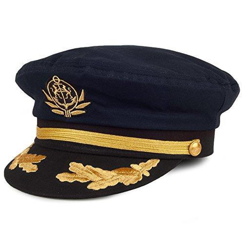 Village Hats Casquette de Capitaine Bleu Marine Ajustable
