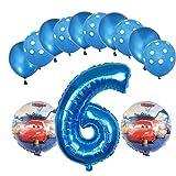 ENXI Globos Mcqueen Ellos 1 Set Autos Lightning 32 Pulgadas Números Balloon Set 13pcs / Set Movilización de automóviles Baby Boy Cumpleaños Fiesta de decoración Suministros ( Color : Light Yellow )