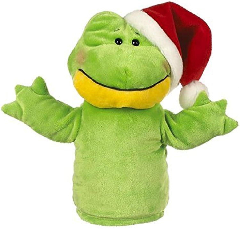tomamos a los clientes como nuestro dios Jugartime Jugartime Jugartime Frog Puppet With Santa's Hat by Ganz by Ganz  Mercancía de alta calidad y servicio conveniente y honesto.