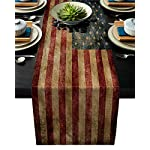 Greeeen-Cotton-Linen-Table-Runner-Kitchen-Table-Runners-for-Family-Dinner-Banquet-Parties-and-Celebrations-Rustic-Sunflowers