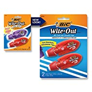 BIC Wite-Out Brand Mini Twist Correction Tape, White, 2-Count, Compact and Convenient Design for Easy Storage