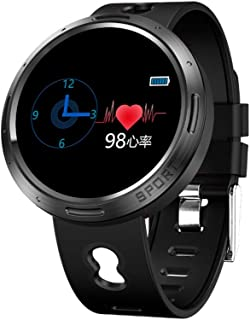 WWSUNNY Reloj Inteligente, monitorización de la frecuencia cardíaca con presión Arterial en Color, Reloj Deportivo multifunción Impermeable Paso a Paso con Bluetooth.